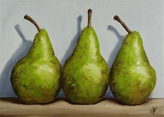 """Conference Pears"" - Original Fine Art for Sale - © Jane Palmer"