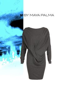 navy gathered waist mini dress / M by MAYA PALMA by studioMfasfion, $99.00