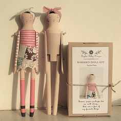 Nanette Wooden Doll Kit 2 of 25 ......You can buy a premade version as well.  By Sophie Tilley Designs,