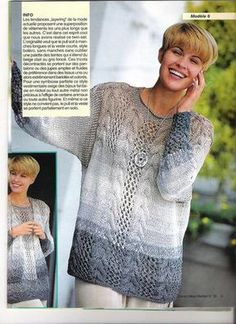 Пуловер с центральной косой   Вязание и рукоделие