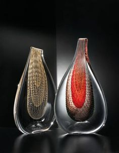 "*Art Glass - ""Sparkling Essence"" by Simone Cenedese Art Of Glass, Glass Artwork, Murano Glass Vase, Glass Jars, Fused Glass, Sculpture Art, Sculptures, Stained Glass Studio, Sandblasted Glass"