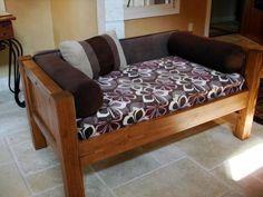 Petra's Doggie Day Bed | Do It Yourself Home Projects from Ana White #WoodworkingDogHouse