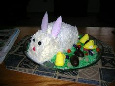 easterbunny cakes andcupcakes | EASY EASTER BUNNY CAKE