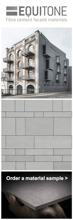 Versatile facade panels designed by architects. Click to order material sample. equitone.com