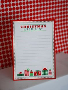 Free Printable: Letter to Santa, Wish List and Gift Tags!
