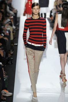Stripes Of A Bolder Nature - Were All Over The New York Runways