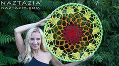 DIY Tutorial - How to Crochet Mandala Dreamcatcher - Sun Dream Catcher H...