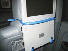Make your own portable DVD player holder for your car