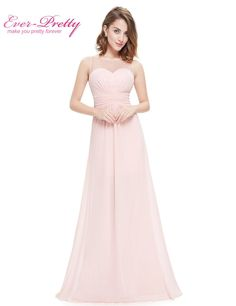 Pink Sleeveless Wedding Bridesmaid Party Dress in Chiffon Pink Bridesmaid  Dresses 00cda6ce34cc