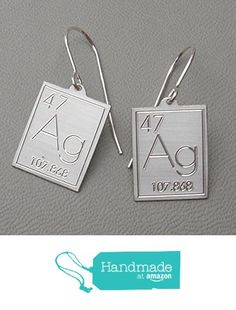Atomic Symbol for Silver Earrings from Nicholas and Felice https://www.amazon.com/dp/B06WD8KTG7/ref=hnd_sw_r_pi_dp_224QybFZ7FY1M #handmadeatamazon