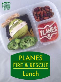 Plans fire and rescue lunch box ideas via lunchboxdad.com/