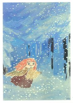 Tove Jansson - Moomin Midwinter, good read for January Moomin, Totoro, Tove Jansson, Children's Book Illustration, Alice In Wonderland, Book Art, Fairy Tales, Artsy, Film