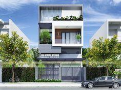 Duplex House Design, House Front Design, Modern House Design, Narrow House Designs, Latest House Designs, Facade Design, Exterior Design, Modern Townhouse, Home Building Design