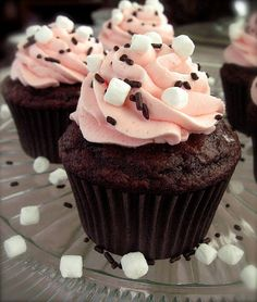 Dessert: Raspberry Hot Chocolate Cupcakes... this could be amazing or the worst thing ever, lol.