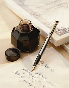 Vintage Ink Well - Fountain Pen / Nothing more lovely than a hand written note.