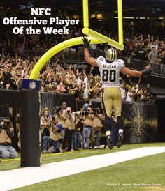 Congrats to Jimmy Graham on being named the NFC Offensive Player of the Week! #Saints #NFL #JimmyGraham