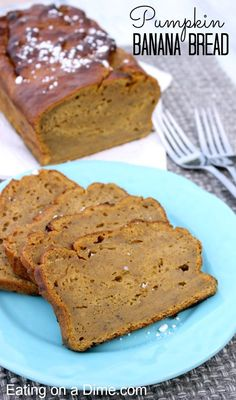 You have to try this amazing Pumpkin Banana Bread recipe. You can get the moist flavor of a banana bread with the fall twist of pumpkin. Our family loves it.