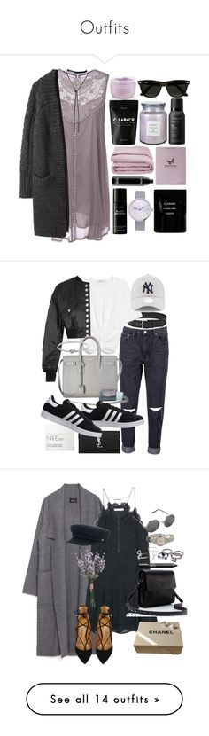 """""""Outfits"""" by lyss-nxo ❤ liked on Polyvore featuring Y's by Yohji Yamamoto, Victoria's Secret, Kelly Wearstler, Frette, MAC Cosmetics, Cleanse by Lauren Napier, Liberty, Living Proof, Ray-Ban and Linea Pelle"""