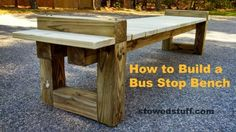 How to Build a Bus Bench - Kids so need these