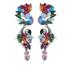 mytheresa.com - Erdem - EXCLUSIVE TO MYTHERESA.COM CRYSTAL BEAD DROP EARRINGS - Luxury Fashion for Women / Designer clothing, shoes, bags