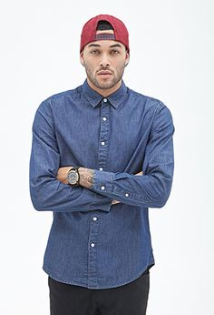 Classic Chambray Button-Down Shirt | Forever 21 Canada