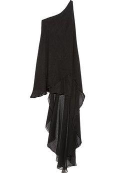 Haney Amy one-shoulder silk-chiffon mini dress | NET-A-PORTER