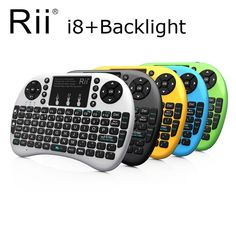 Rii i8+2.4G Mini Wireless QWERTY Gaming Keyboard Touchpad Mouse Keyboard with Backlit Backlight for PC/Android Tv Box/X360/PS345 //Price: $34.38 & FREE Shipping //  #videogames #games #electronics #technology #tech #electronic   #device #gadget #gadgets #geek