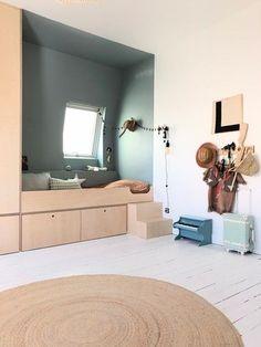 Baby Room Design, Home Room Design, Green Lounge, Bed Nook, Cool Kids Bedrooms, Modern Murphy Beds, Tiny Spaces, Living Room Inspiration, Room Interior