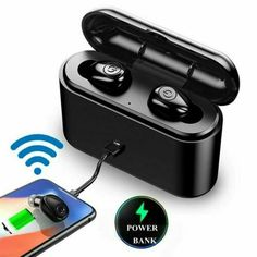 TWS bluetooth Earphone Wireless Waterproof Mini Stereo Headphones Earbuds - Wireless Headphones - Ideas of Wireless Headphones Wireless Headset, Bluetooth, Wireless Headphones, In Ear Headphones, Noise Cancelling Earbuds, All Mobile Phones, Mini, Mobile Accessories, Phone Accessories