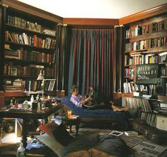 Keith Richards' library is another favorite of mine. I just love having things scattered about. :)