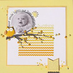 #papercraft #scrapbook #layout.   Sunshine *Doodlebug*