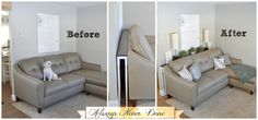 sofa table before after-Always-Never-Done