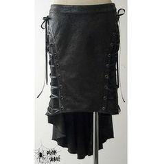 Steampunk Victorian Goth Visual Kei Fishtail Skirt