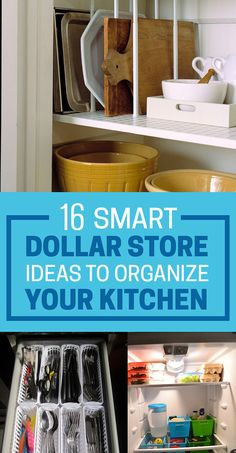 Looks Like I will be the the one who has to set up house to perfection ;) 16 Smart Dollar Store Ideas To Organize Your Kitchen