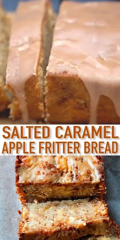 One of your favorite fritters in quick bread form. And made even better with salted caramel. Bread Machine Recipes, Quick Bread Recipes, Banana Bread Recipes, Baking Recipes, Caramel Apple Recipes, Coconut Quick Bread, Loaf Recipes, Köstliche Desserts, Delicious Desserts