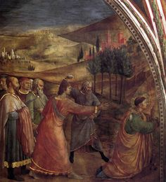 ANGELICO, Fra The Stoning of St Stephen 1447-49 Fresco, 326 x 236 cm Cappella Niccolina, Palazzi Pontifici, Vatican