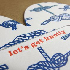 Let's get knotty card ;)