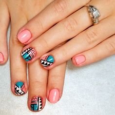 Ornament manicure #summer #nails #manicure #summer_nails #summer_manicure #ornament #ornament_nails #ornament_manicure #bright #bright_nails #bright_manicure