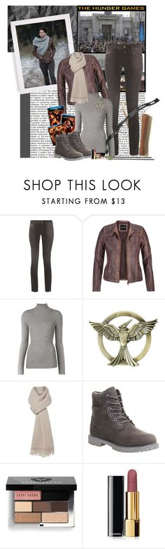 """Hunger Games Style"" by polybaby ❤ liked on Polyvore featuring Just Cavalli, maurices, Barbara Bui, MaxMara, Timberland, Bobbi Brown Cosmetics, Chanel, Hungergames and contestentry"