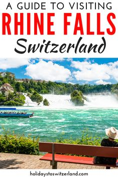 Plan your visit to Europe's largest waterfall with our guide to visiting the Rhine Falls, Switzerland. You'll learn how to get to Rhine Falls, what to do there and much more. Holidays To Switzerland, Switzerland Vacation, Swiss Travel, European Travel, Italy Travel, Italy Trip, Travel Trip, Rhine Falls Switzerland, Largest Waterfall