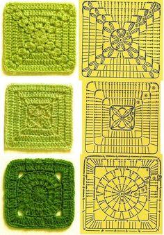 Carolina Crochet: Receitinhas: squares