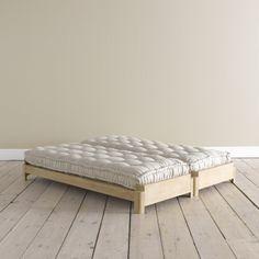 petit lit d'appoint...qui devient 2 ! chez Loaf.com (uk)