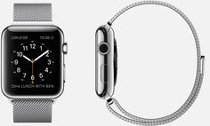 APPLE WATCH 38mm and 42mm Case 316L Stainless Steel Sapphire Crystal Retina Display Ceramic Back Milanese Loop Stainless Steel Magnetic Closure