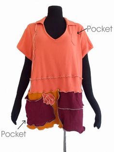 Floral Top 1x Recycled Cotton Spandex Knit von RebeccasArtCloset