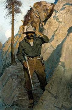 Newell Convers Wyeth was an outstanding pupil of the renowned illustrator Howard Pyle and became one of the best American illustrators. Jamie Wyeth, Andrew Wyeth, Frederic Remington, Western Film, Western Theme, Westerns, Nc Wyeth, Howard Pyle, Illustrator