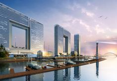 Window of Guangzhou - The Window of Guangzhou project is set to be completed by Atkins architecture firm, and will feature two large voids in the middle of the buildings...