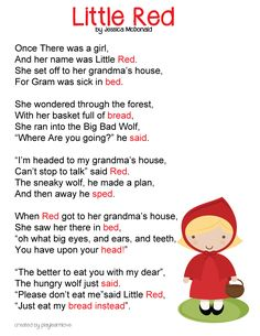 little-red-riding-hood-poem.jpg (2550×3300) Preschool Poems, Preschool Curriculum Free, Nursery Rhymes Preschool, Rhyming Poems For Kids, Funny Poems For Kids, Children Poems, Red Riding Hood Story, Traditional Stories, Traditional Tales