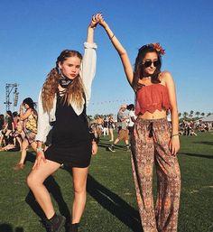 Lexee Smith and Hailey Sani at #Coachella2016. #garagefestival #iweargarage