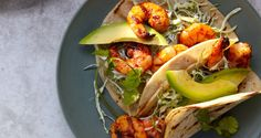 These Grilled Shrimp Tacos with Pickled Onions can be also made indoors by using a grill pan or cast-iron skillet.