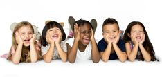Group of diverse cheerful kids | premium image by rawpixel.com Group Photography, Children Photography, Doterra, Kids Lying, Artsy Background, Kids Around The World, Studio Portraits, Cute Kids, Cheer